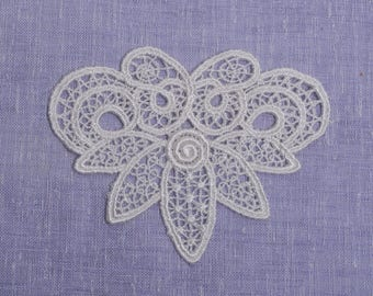 1 pc x 12cm x 9.5cm Venice Lace Applique Couture Cuff Front Piece