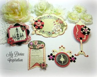 Julie Nutting Belle Vie Handmade Paper Embellishments and Paper Flowers for Scrapbook Layouts Cards Mini Albums Tags Journals Paper Crafts