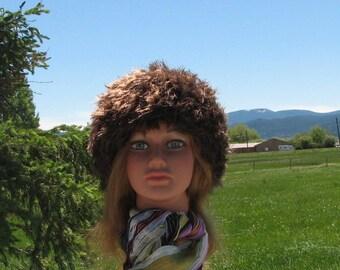 Knit Felt Fur Hat Pippa Chocolate Brown Crushable