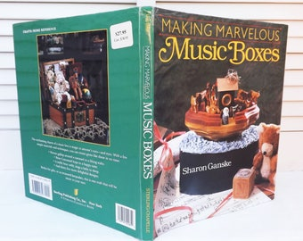 Music Boxes Crafting Book, Music Box Design Instructions, Making Creative Music Boxes, Handmade Music Box Gifts,  How To Book of Music Boxes