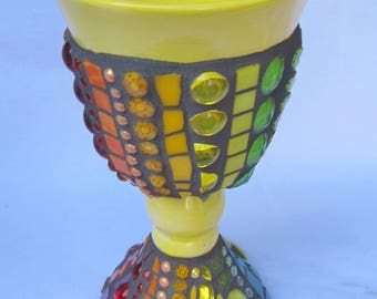 Mosaic Chalice Goblet Yellow