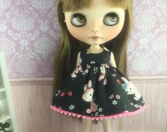 Blythe Dress - Pink Bunnies