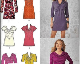 Simplicity 1716 Knit Tunic Top Mini Dress Misses Sewing Pattern UNCUT Plus Size 12, 14, 16, 18, 20
