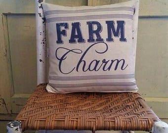 Farmhouse decor, Farm Charm, country chic pillow