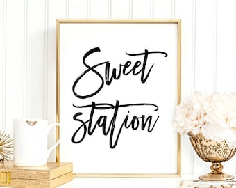 SALE -50% Sweet Station Digital Print Instant Art INSTANT DOWNLOAD Printable Wall Decor