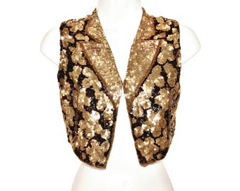 Sequin Beaded Bolero & Matching Sequin Fascinator Hat, Extremely Rare, Highly Collectible, Cabaret/Burlesque, Made in France, Vintage 1920s