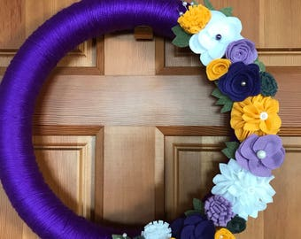 UW Inspired Floral Wreath