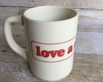 Vintage Love a Nurse Mug - Tea Cup - Coffee - PRN