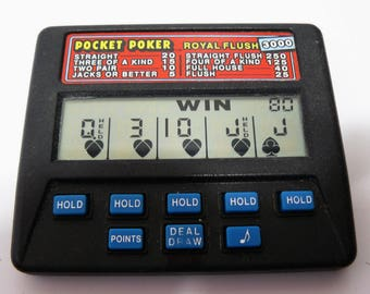 Radica Pocket Poker Royal Flush 3000 LCD Electronic Hand Held Video Game