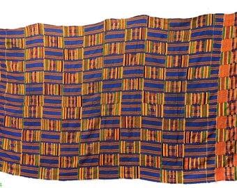 Kente Cloth Handwoven Textile Asante African Art 89623