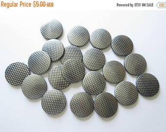 On Sale Black and Silver Polka Dot Beads Jewelry Making Supplies Plastic Beads