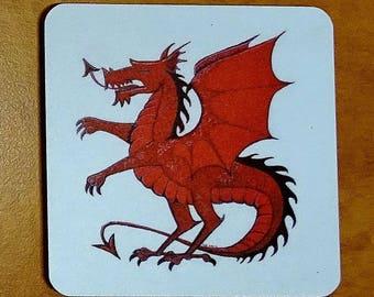 Red dragon coaster fantasy coaster