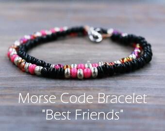 Best Friend Birthday Gift - Best Friends Distance - Matching Best Friend Bracelets - Best Friend Matching Bracelet - Friendship Braclets