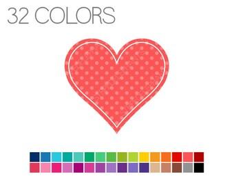 Heart Clip Art - Clip Art Basics Polka Dot Hearts - Instant Download - Commercial Use - Heart Polka Dot V1
