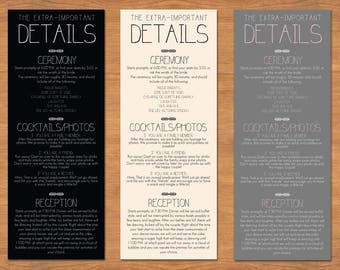 Rustic Wedding Schedule of Events