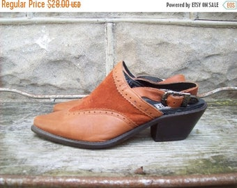 Birthday Sale Code West Leather Cowgirl Shoes Size 7