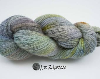NEW! Hand Dyed Royal Baby Alpaca Yarn Sock Weight - Misty Morning