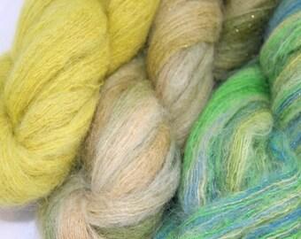 Moonlight Kid Mohair Silk golden sparkle yarn