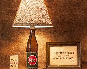 Pliny, Bottle Lamp, Mancave, Russian River, 22oz, Beer, Gift, Free US Shipping