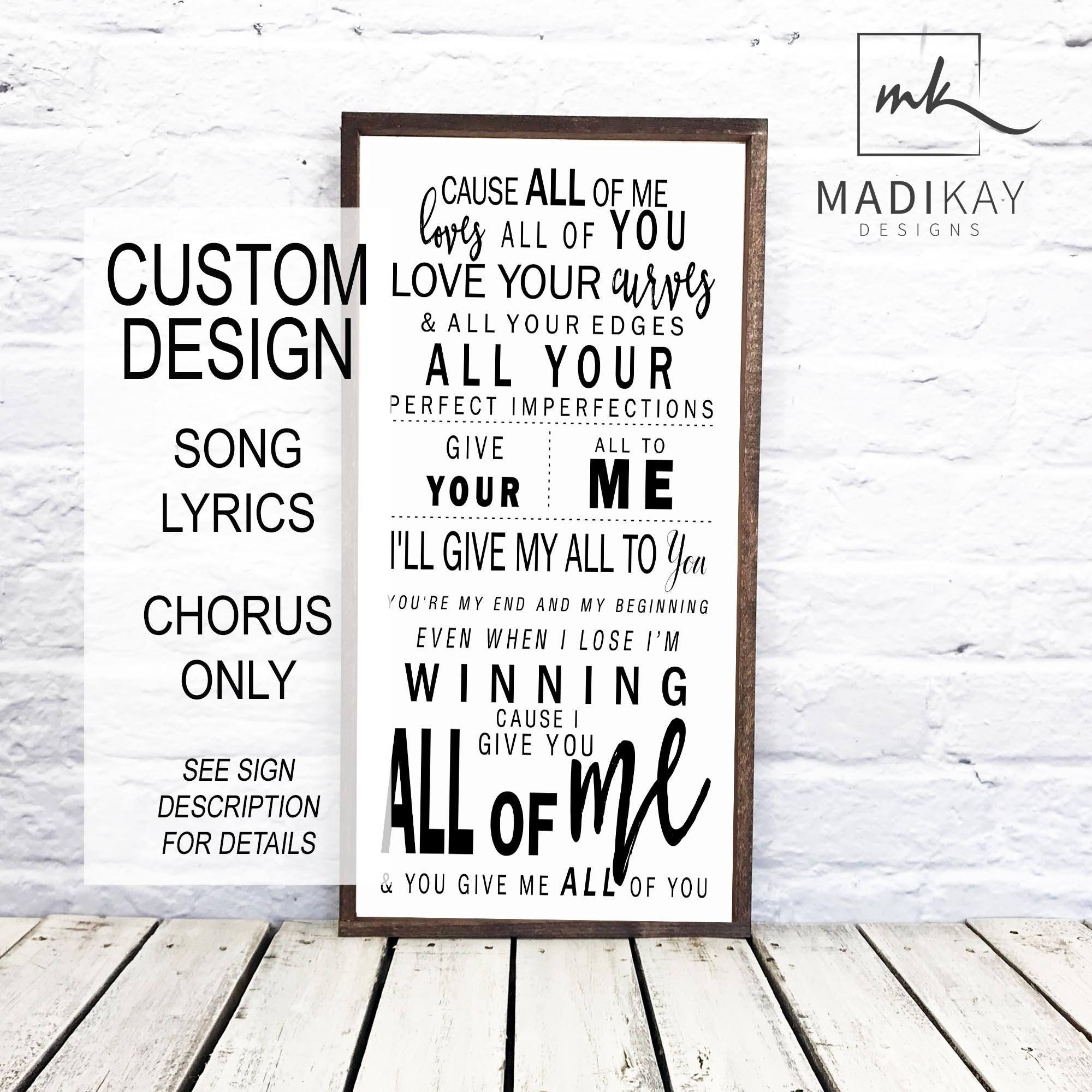 Turn Around Wedding Song: Wedding Song Lyric Frame Song Lyrics Personalize Wood Sign