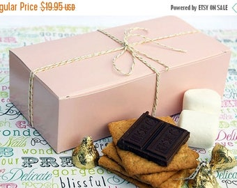 GLAM SALE 42 Party Favor Boxes, Wedding Candy Boxes, Cookie Boxes, Wedding Favor Boxes, Blush Pink Favor Boxes, Gift Boxes - Half Pound Size