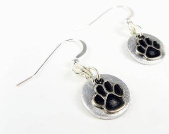 Paw Print Earrings - Cute Pawprint Jewelry for Dog Walker, Dog Mom, Pet Lover, Dog Owner, Animal Lover