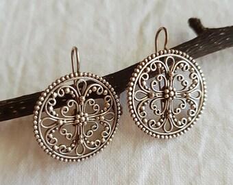 Mandala Curl Earrings