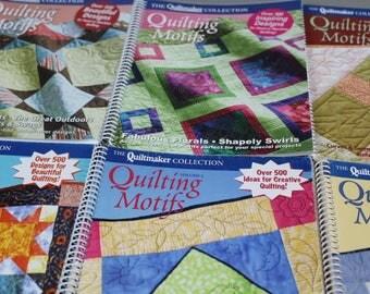 DESTASH-BOOKS, Quiltmaker Quilting Motifs, Vol. 3 & Vol. 5, quilting patterns from 26 years of Quiltmaker magazine.