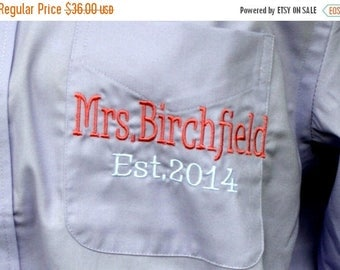 CHRISTMAS IN JULY Bride and Bridesmaids Shirt Monogrammed, Assorted Colors