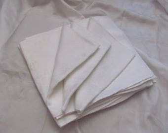 "Napkins Set of 10 Beautiful Cotton Double Damask Fine Linen Dinner Napkins 20"" (2b)"