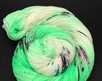 Jimmy Sock, Hand Dyed Yarn, Sock Yarn, HauteKnitYarn, Superwash Merino, Nylon, Fingering weight, yarn, speckled, Urban Jungle