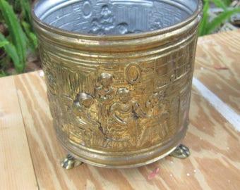 vintage brass planter lions feet england planters