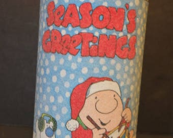 Vintage Ziggy Season's Greetings Candle 1981 Ziggy Christmas Sugar Frosted Pillar Candle
