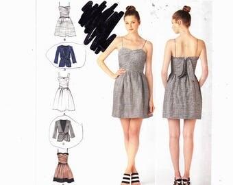 Simplicity 2250 Szs 14-22 Plus Size Dress Two Lengths, Jacket And Tie Belt UNCUT