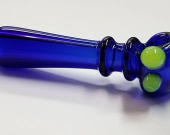 Glass Hand Pipe ~ Seattle Seahawks colors ~ hand blown boro glass by Ehi