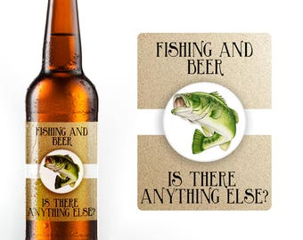 Fishing and Beer - Is There Anything Else? 6 Waterproof Beer Bottle Labels