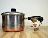 Jahrgang Revere Ware 3 Quart produziert in Rom, NY USA Sauce Pan gereinigt Kupfer unten