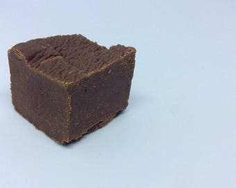 Sea Salted Dark Chocolate Fudge - Homemade