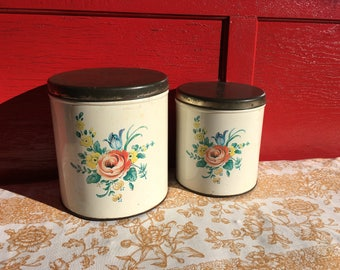 Vintage Decoware kitchen canisters/storage tins