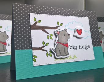 Dog Get Well Card, Feel Better Soon Card, Dog Thank You Card, Get Well Card for Dog Lover, Encouragement Card, Thinking of You Card