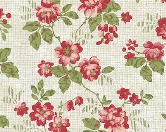 In The Beginning Fabrics, Elizabeth Rose by Gray Sky Studio, 3GS-1 Garden Roses in Cream