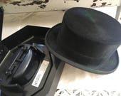 Reserved Vintage Horse Hair Pajk Klobuki Black Top Hat With Travel Case