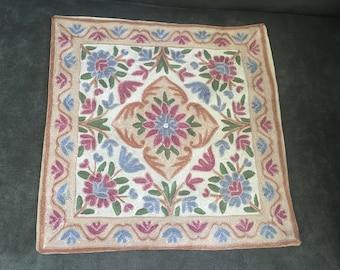 "Vintage BoHo Pillowcase - Beautiful Vintage Woven Pillow Cover 15"" X 15"""