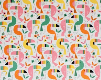 TOUCAN ZOO ANIMAL Print 40 x 14 lined or unlined