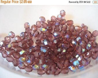 CLEARANCE Vintage Amethyst AB Crystals Czech 4mm QTY - 20