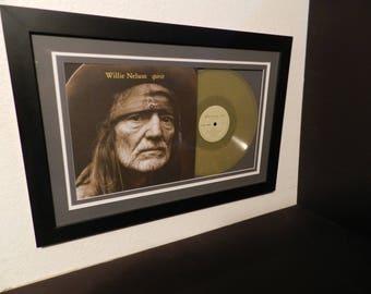 """Willie Nelson""""Spirit""""lp framed"""