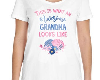 Grandma shirt, Pregnancy Announcement - Promoted to Grandma Shirt - Pregnancy Reveal Idea -  Grandma tee shirt, Awesome - Abuela