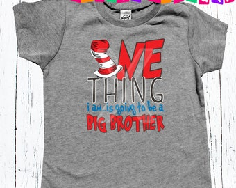 Big brother to be BIG BROTHER  - tee shirt boys big brother promotion announcement tee shirt
