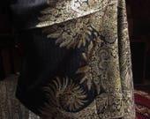 Nemesis Vintage Black Paisley Pashmina Scarf Wrap