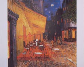 Vincent Van Gogh Poster, Terace de Cafe, Bistro, Starry Night, Painting, Vintage Poster